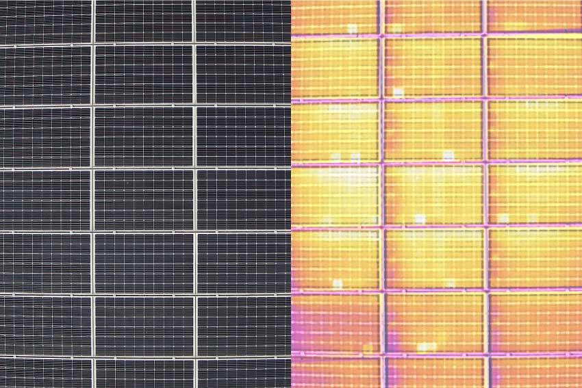 ソーラーパネル洗浄赤外線カメラ